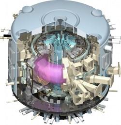 Sección del tokamak a instalar en ITER. Pulsa sobre la imagen para ver más información en la página oficial.