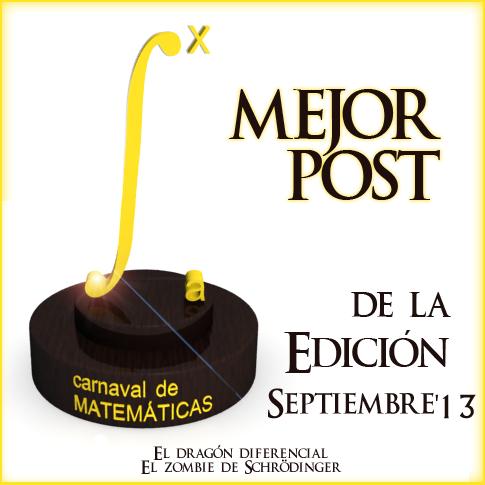 Premio Carnaval Matematicas Septiembre2013